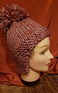 Ohr Patch Wintermütze, Yak Hut, Ohr Abdeckung Hut, Hut mit Ohrenklappen,   – Loom Knit Hat Patterns