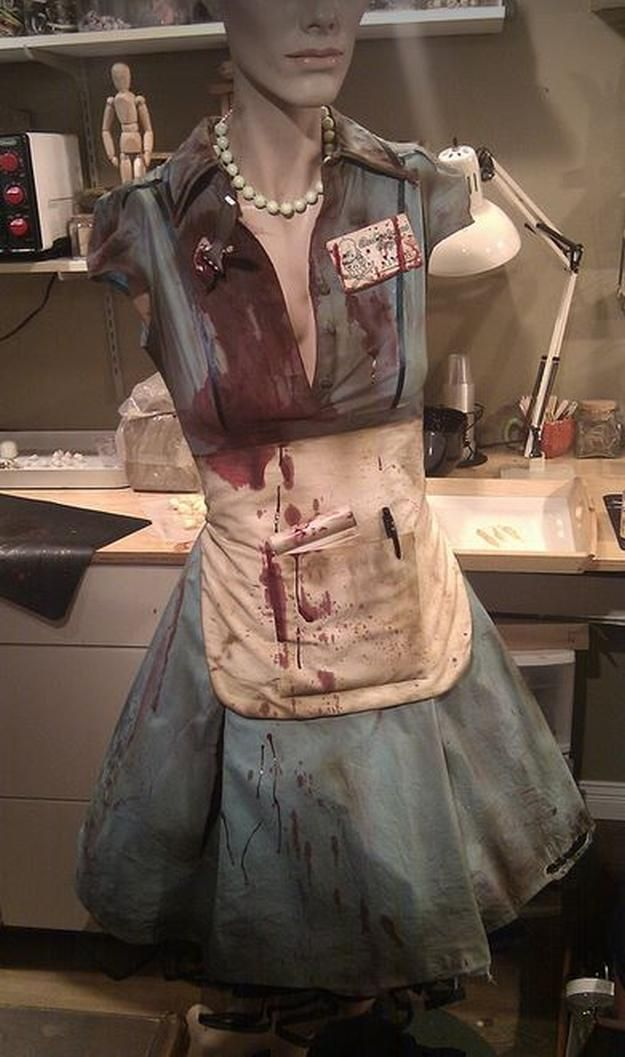 DIY Zombie Waitress Costume Idea | 18 DIY Zombie Costume Ideas - Halloween Party Ideas by DIY Ready at http://diyready.com/18-diy-zombie-costume-ideas/