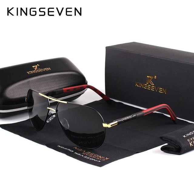 3d720699c8 KINGSEVEN Men Vintage Aluminum HD Polarized Sunglasses Classic Brand Sun  glasses Coating Lens Driving Shades For Men Wome.