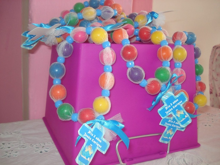 gumball rosaries for the kids