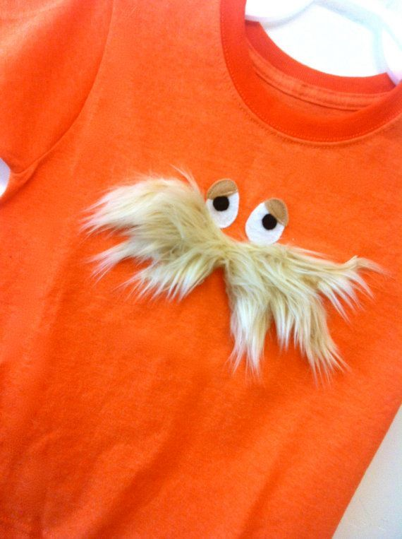 I am so tempted to make this for Earth Day...{Dr. Seuss The Lorax inspired boys shirt by SoSoHippo on Etsy}