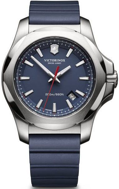 Victorinox Swiss Army Watch I.N.O.X. Blue #bezel-fixed #bracelet-strap-rubber #brand-victorinox-swiss-army #case-material-steel #case-width-43mm #classic #date-yes #delivery-timescale-call-us #dial-colour-blue #gender-mens #movement-quartz-battery #official-stockist-for-victorinox-swiss-army-watches #packaging-victorinox-swiss-army-watch-packaging #style-dress #subcat-i-n-o-x #supplier-model-no-241688-1 #warranty-victorinox-swiss-army-official-2-year-guarantee #water-resistant-200m