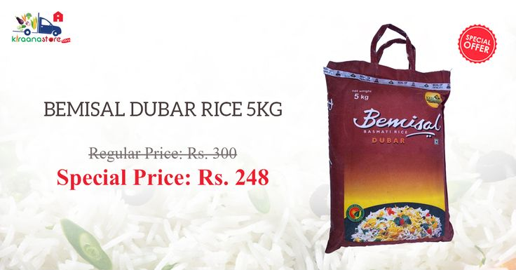 Shop Online for Bemisal Basmati Rice at Less Than MRP Only on Kiraanastore.