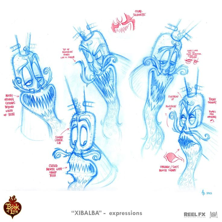 Character Design Book Of Life : Quot xibalba expressions i did for 'the book of life movie