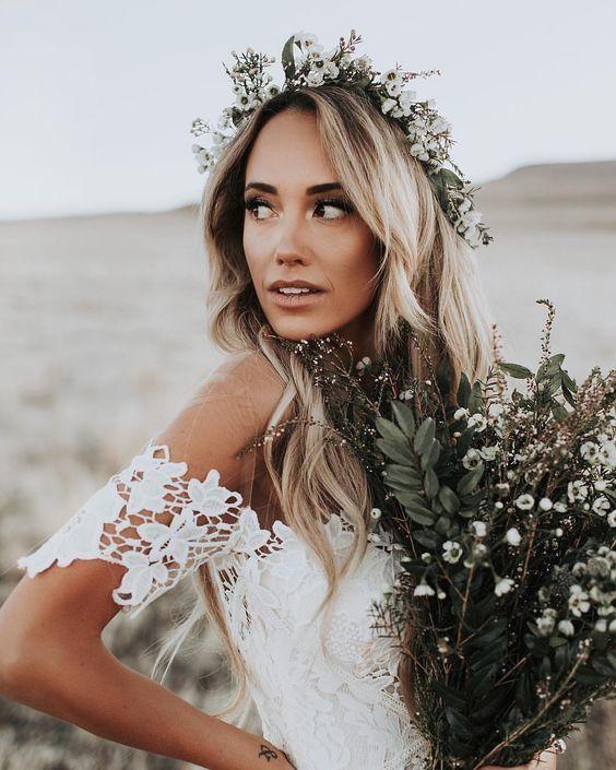 Ivory Mermaid Lace Rustic Wedding Dresses Illusion Neckline Beach Wedding Dress AWD1157