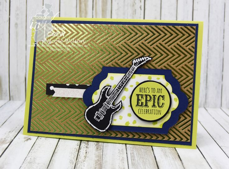 Nicole Wilson Independent Stampin' Up!® Demonstrator Colour INKspiration 25 Epic Celebrations using Lemon Lime Twist, Night of Navy and Whisper White with Foil Frenzy DSP #CI25 #stampinup #birthday #saleabration
