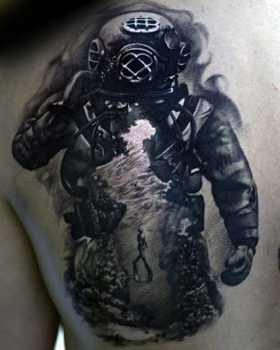 60 Diver Tattoo Designs For Men