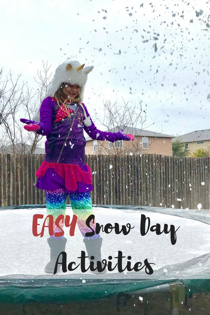 """""""Mooom! I'm bored!"""" Snow days can be tricky, but I have some easy ideas to entertain the kids."""