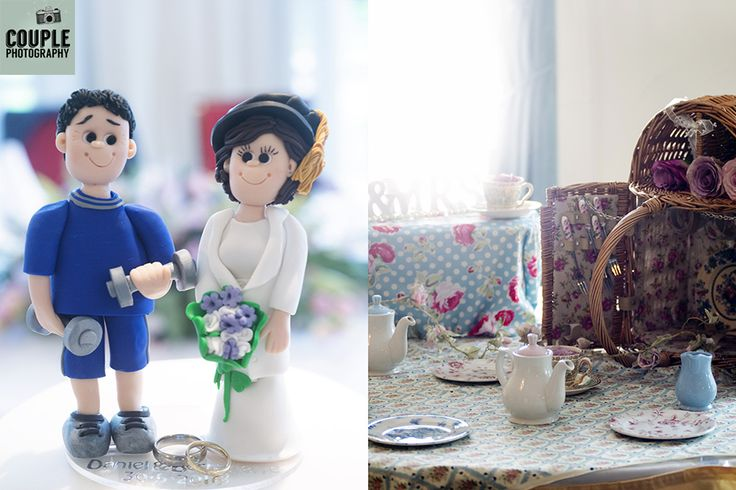 Some details of the day, the cake topper and some vintage details. Weddings at The Keadeen Hotel Photographed by Couple Photography.