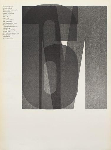 Typografische Monatsblätter, RSI SGM 1967 issue 6/7 Cover Design: Horst Hohl  Typefaces: Ruder Grotesk, Univers