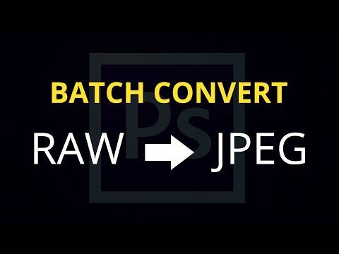 How to Batch Convert RAW Files to JPEG - YouTube