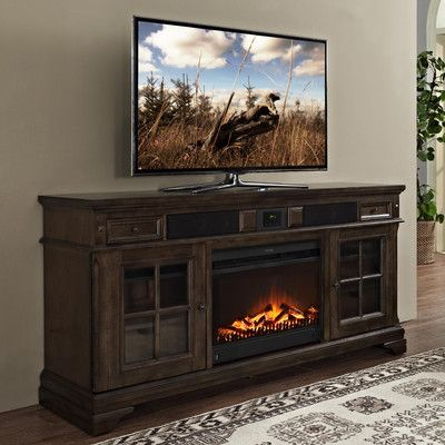 "San Andorra 66"" TV Stand with Electric Fireplace"