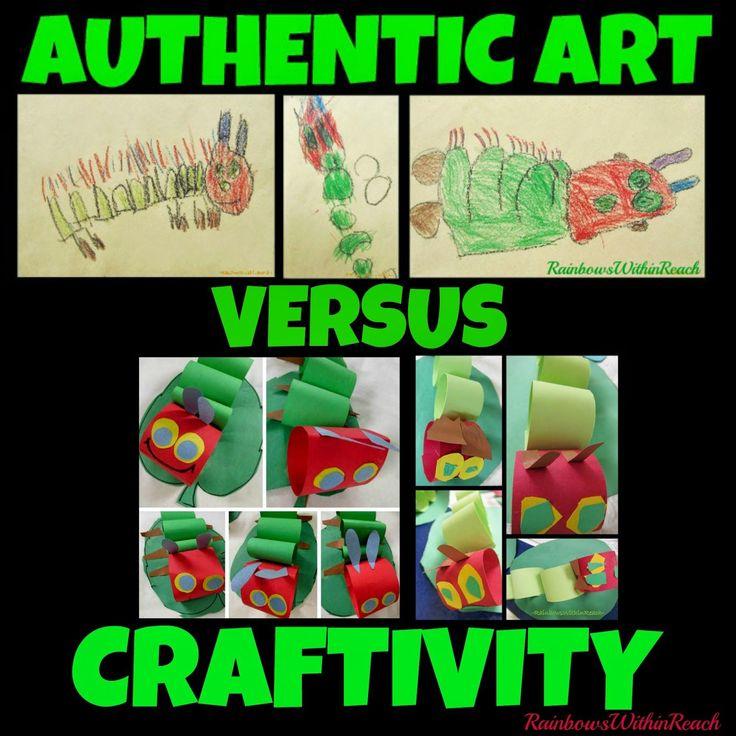 Children's AUTHENTIC Art vs. Classroom Craftivities