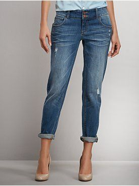 Slim Slouch Jean - Midtown Blue Wash from New York & Company -- these fit amazing.