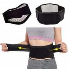 Tourmaline Self-heating Magnetic Therapy Waist Belt Lumbar Support Back Waist Support Brace Double Banded aja lumbar