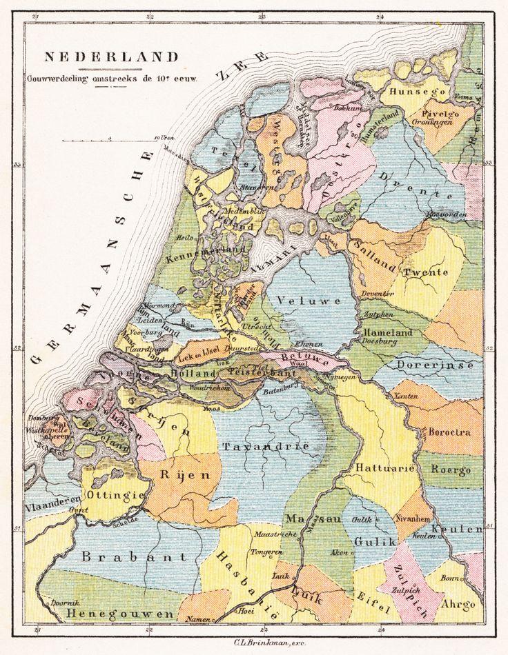 Brinkman_Nederland_Gouwverdeeling_omstreeks_de_10e_eeuw_1890.jpg 3.555×4.591 pixels