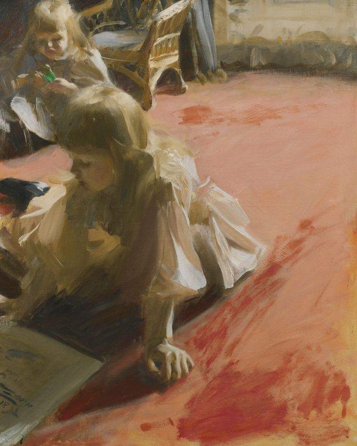 """""""Portrait Of The Daughters Of Ramón Subercaseaux"""" by Anders Zorn"""