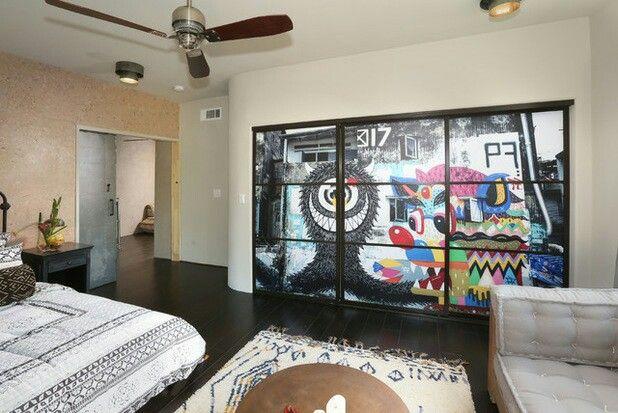 Graffiti en diseño de interiores? sí, y con mucho estilo