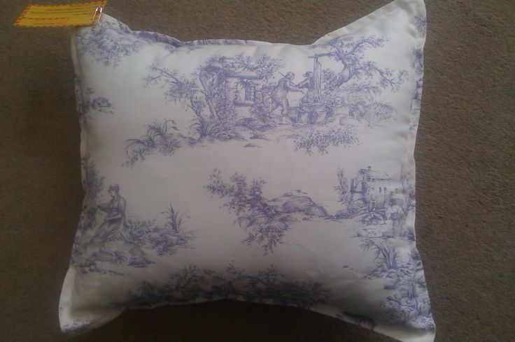 Lilac toile fabric. Cushion £15