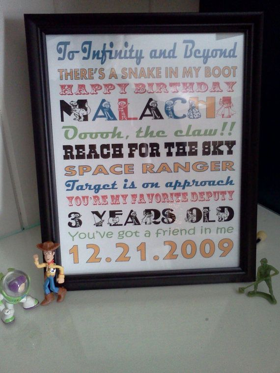 Toy Story Birthday Subway Art Personalized Printable by Pvbs31Mom, $5.00