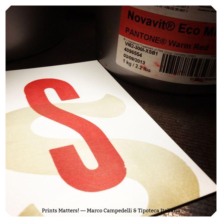 """— S — """"Print Matters!"""" è una collaborazione di Marco Campedelli & Tipoteca Italiana — presso Tipoteca Italiana. #printmatters! #marcocampedelli #tipotecaitaliana #letterpress #index"""