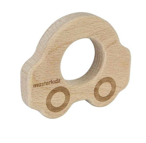 Natural wooden car teether | Lucas loves cars