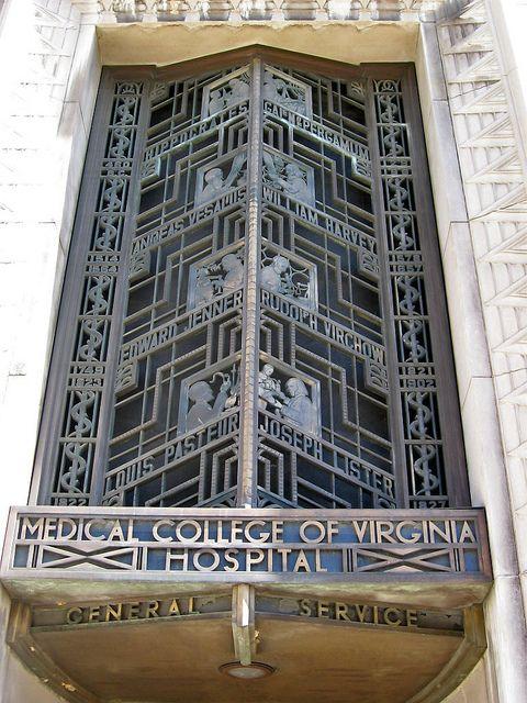 Art Deco detail, Medical College of Virginia Hospital, Richmond | Flickr - Photo Sharing!