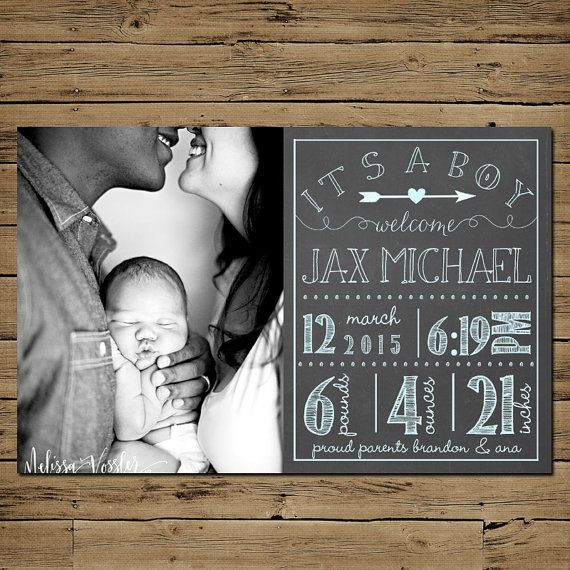 Our complete selection of baby announcements can be found here: https://www.etsy.com/shop/PinkSangriaDesigns?section_id=12538652 **This