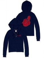 victorias secret clevland indians | Victoria's Secret PINK Cleveland Indians Bling Perfect Full Zip Hoodie ...