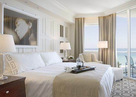 Hotel style acqualina resort and spa on the beach for Spa inspired bedroom designs