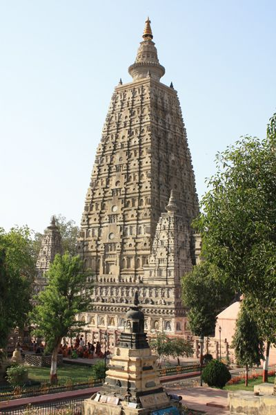 The Mahabodhi Temple, a Buddhist pilgrimage and UNESCO World Heritage Site in Bodh Gaya, the place where Buddha, is said to have attained enlightenment.