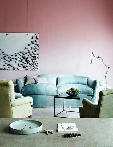 gradient wall  fresh art wt classic seating/ chic  now/ Annie Millar