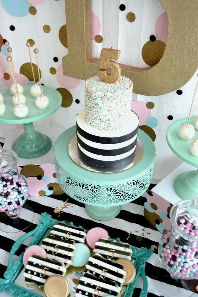 Confetti girl birthday party! See more party planning ideas at CatchMyParty.com!