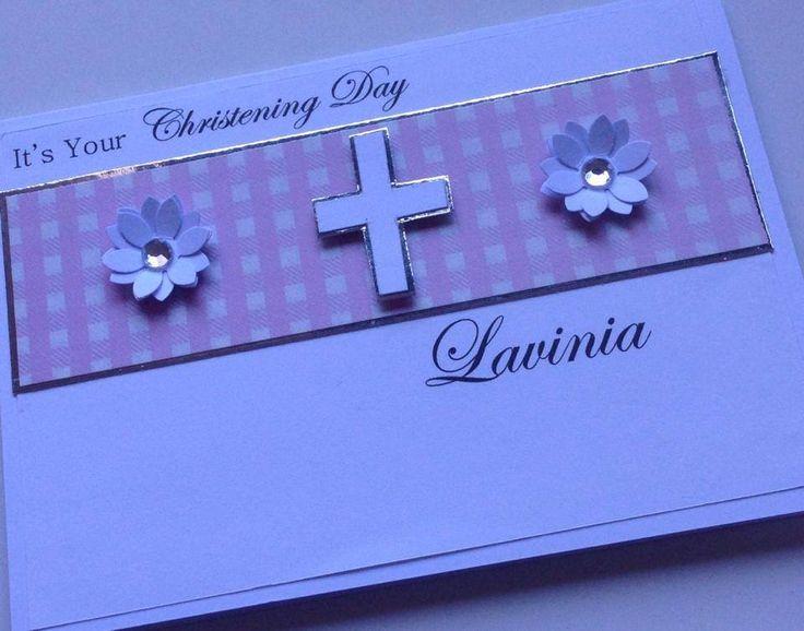 Christening/Baptism/Confirmation card, customised colour #handmade