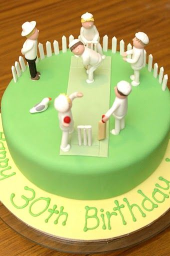 Inspiration for a Cricket Cake and Cupcakes, Novelty Cakes. www.sweetsecretsdubai.com