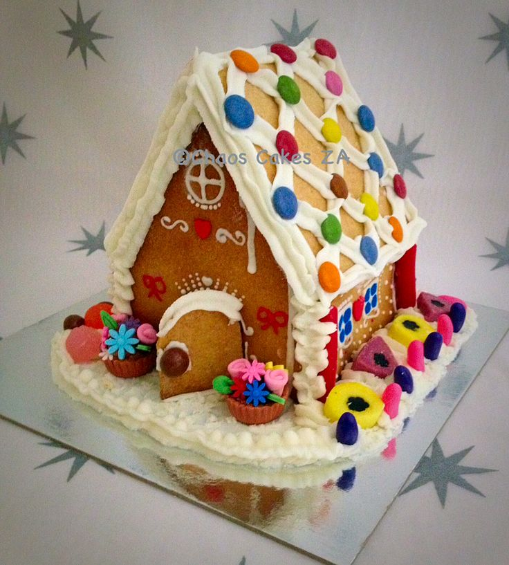 Gingerbread House Christmas Cake by Chaos Cakes ZA