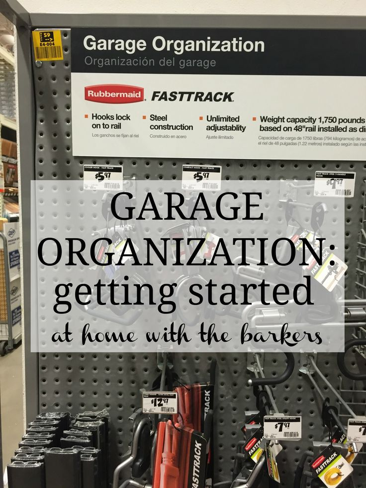 Garage Organization with @rubbermaid FastTrack System is a life saver!