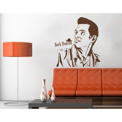Rock Hudson   Vinyl Wall Decal Home