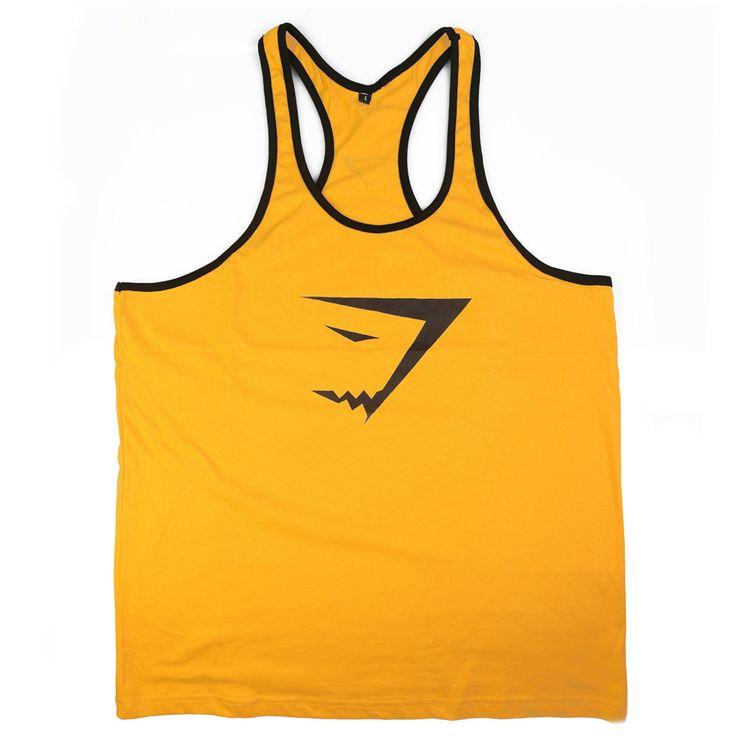 Gyúrós edző trikó férfi sárga fekete Edzéshez,fitneszhez, testépítéshez! Már 2 db-tól INGYENES szállítás! Többféle színben és méretben!Csak NÁLUNK elérhető