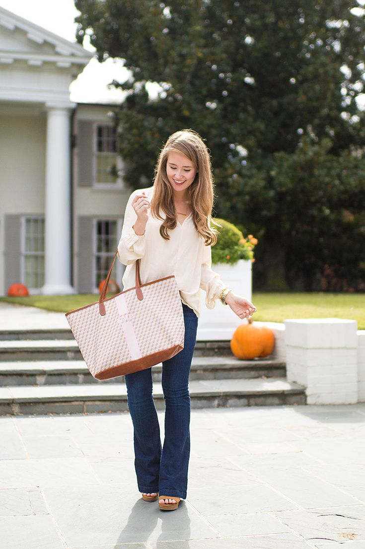 monogram tote bag | my much-loved Barrington has rolled out their fall patterns, and the time for creating a new bag perfectly fit for fall has arrived! | monogrammed accessories | monogrammed tote bags | how to create a monogrammed bag | create your own monogrammed tote || A Lonestar State of Southern