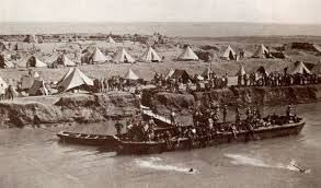 Camp on the Suez Canal