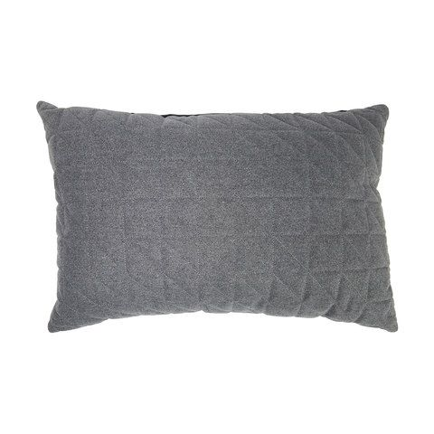 Holmen Quilted Cushion Charcoal   Kmart