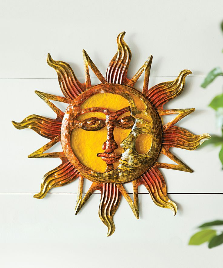 Glass & Metal Sun Wall Art | something special every day