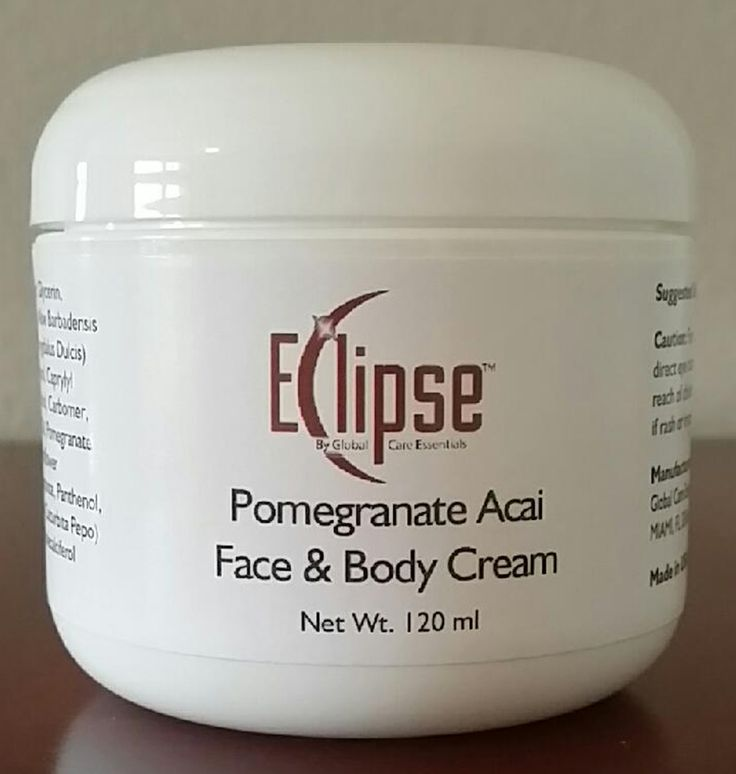 Eclipse Pomegranate and Acai Face & Body Cream  LOOK YOUR BEST -Smooth, Supple Skin Lets You Look Your Best and Gives You Confidence!  www.globalcareessentials.com