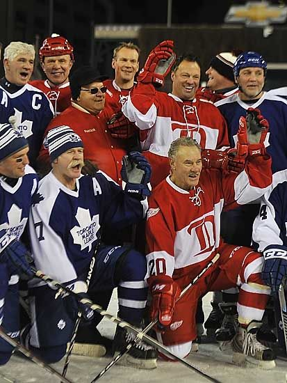 YES!! - 2014 Winter Classic Alumni Game at Comerica Park. Detroit Red Wings and…