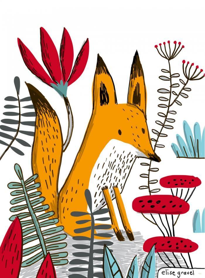 Elise Gravel • Fox • renard • hommage à Jane, le renard et moi (Fanny Britt and Isabelle Arsenault)