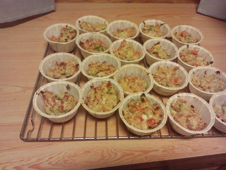 Oppskrift: Muffins av Ost, skinke og grønnsaker (xoeponaxo)