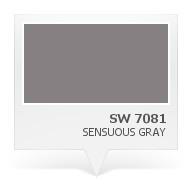 SW 7081 - Sensuous Gray