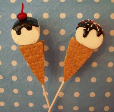 Ice Cream S'mores Pops!