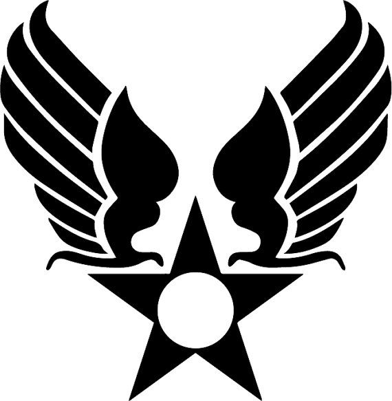 Air Force Hap Arnold Logo Insignia Car Window Laptop